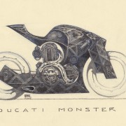"<strong>""DUC MONSTER PROTO""</strong> Technique: Pencil & Ballpen / Size: 30 cm x 21 cm"