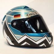 "<strong>""THILO GÜNTHER - PIKES PEAK - 2017""</strong> / Exclusive hand-painted Motorcycle Helmet / Technique: Spray Can"